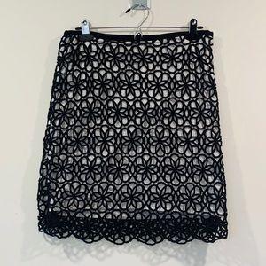 Anthropologie Spiral Pattern Skirt